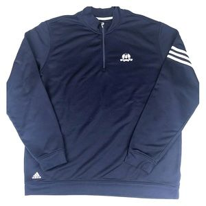 Adidas Blue Long Sleeve Golf Zip Pullover Sweater